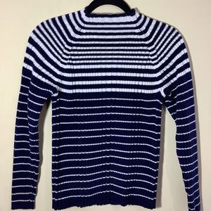 Studio Works Striped Cotton Ribbed Sweater